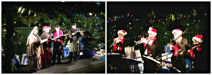 Music at Butchart Gardens at Christmas