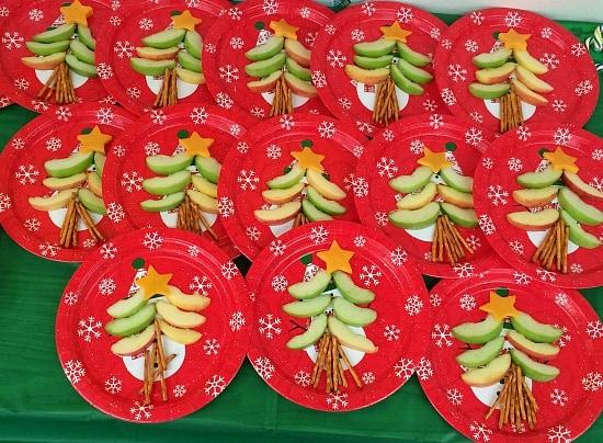 Christmas Tree Healthy Treats
