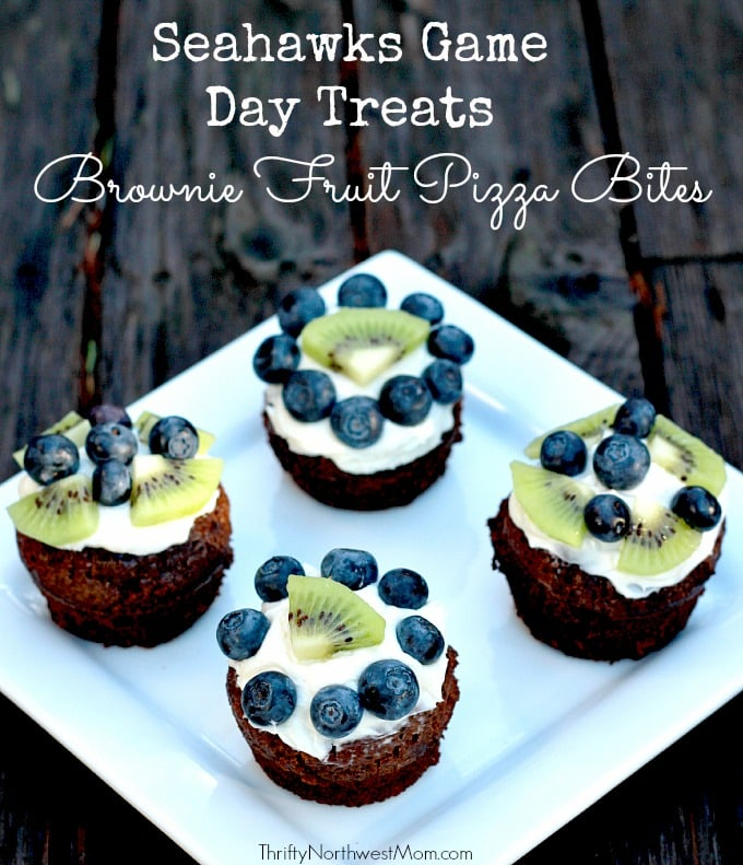 Brownie Fruit Pizza Bites