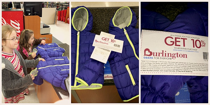 Burlington Stores Coat Drive + 10% Off Coupon