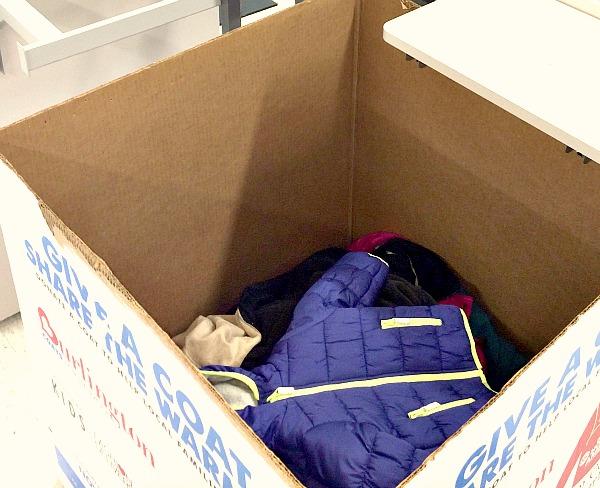 Coat Collection Box at Burlington Stores