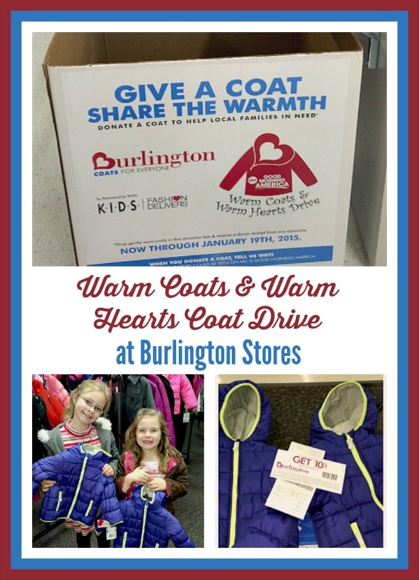 Donate a Coat to Someone in Need at Burlington Stores #CoatNotes