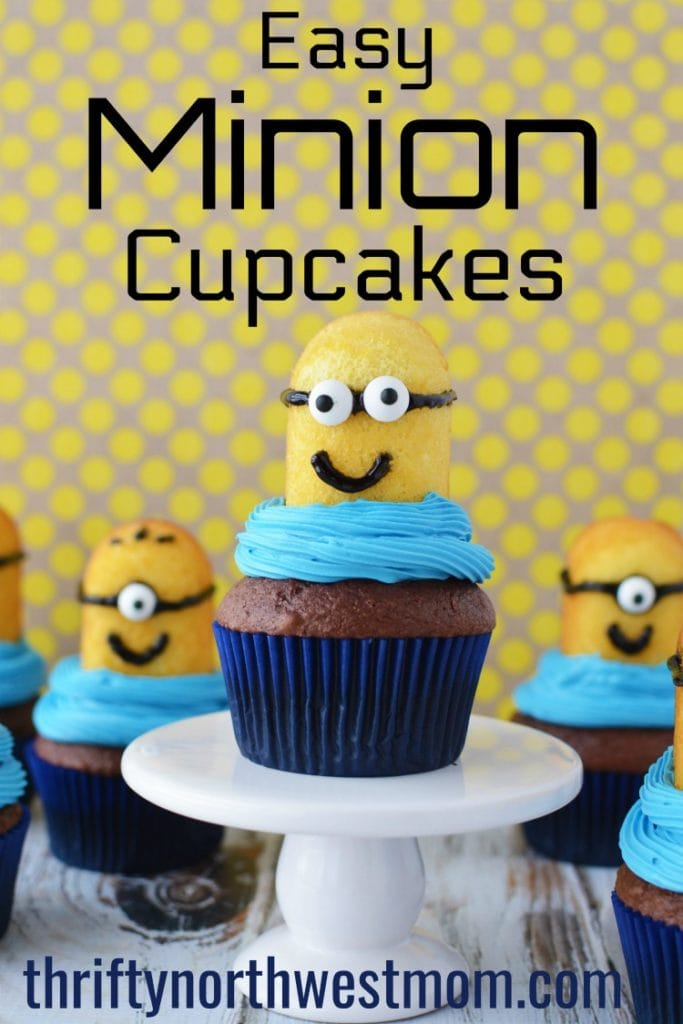 Despicable Me Minion Cupcakes – Super Easy for a Party!