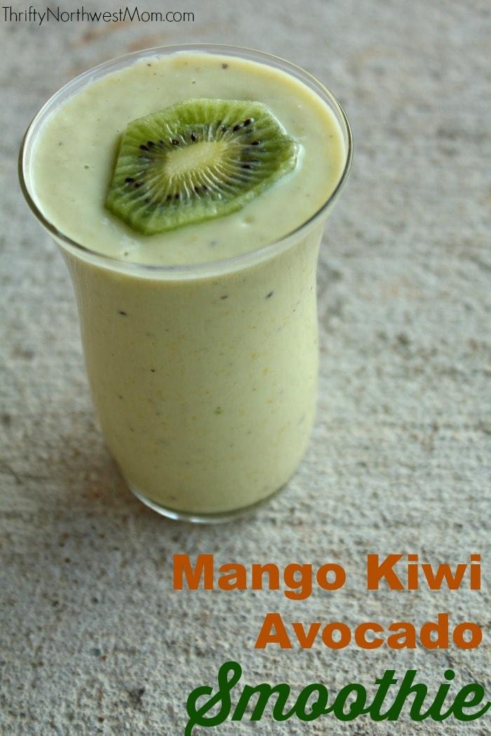 Mango Kiwi Avocado Smoothie