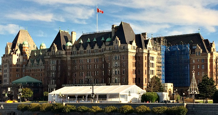 Ice Skating at Empress Hotel in Victoria