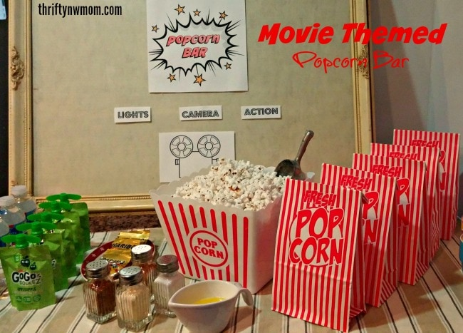 Movie theater popcorn bar