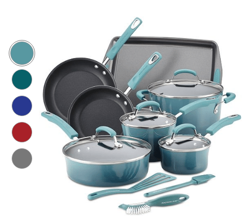 Rachael Ray 14-Pc. Nonstick Cookware Sets