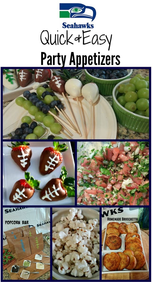 seahawks game day party appetizer ideas quick easy affordable