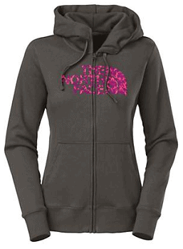 The North Face Women's Flocked Damask Full Zip Hoodie