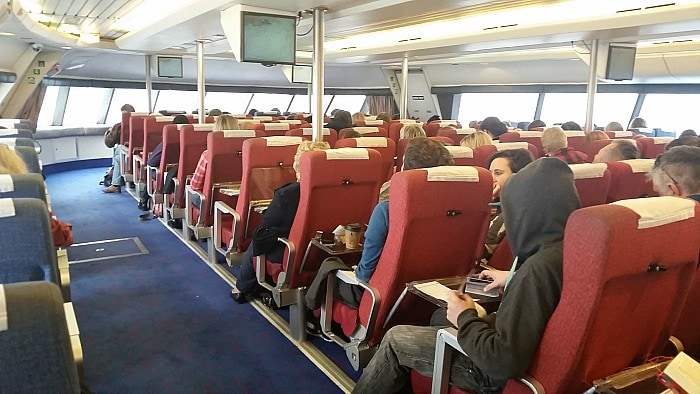 Victoria Clipper Row Seating on Boat