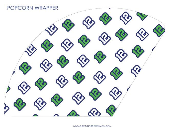 Free Seahawks Popcorn Printable with 12's