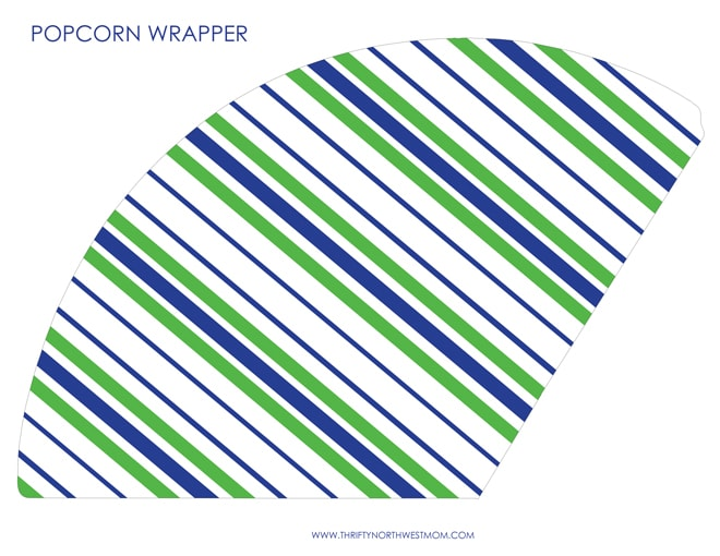 Free Seahawks Printable Popcorn Cone Wrapper