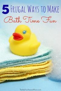5 Frugal Ways to Make Bath Time Fun