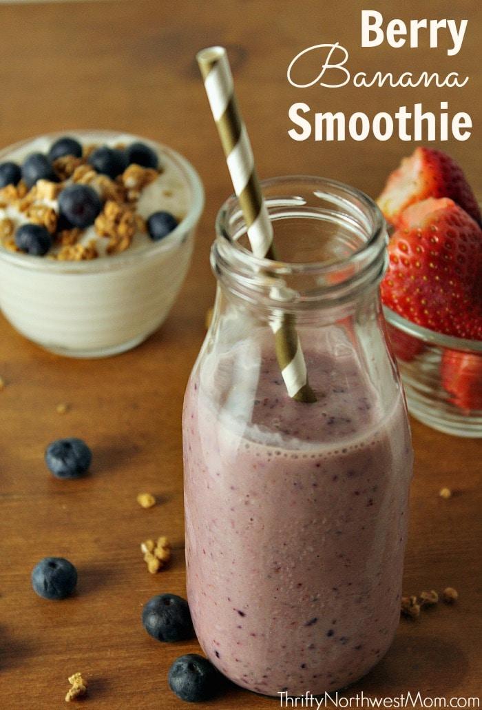 Chia Seed Recipes - Berry Banana Smoothie