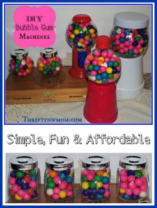 DIY Bubble Gum Machines