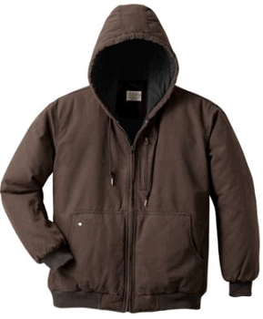Cabela's Roughneck Men's Insulated Washed-Canvas Hooded Jacket