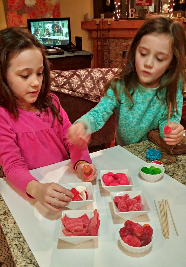 Candy Kabob Kids Making Them