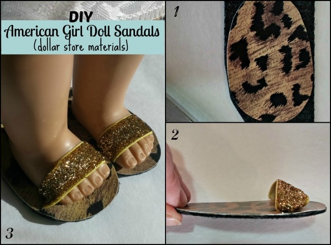 DIY American Girl Doll Sandals