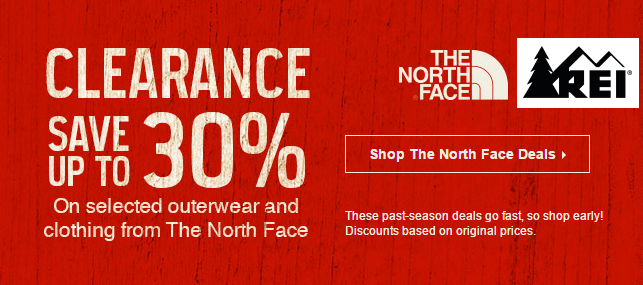 REI North Face Sale