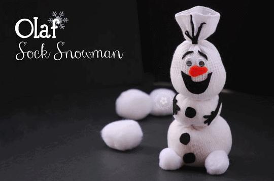 Olaf Sock Snowman Craft