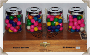 Small Bubble Gum Jars