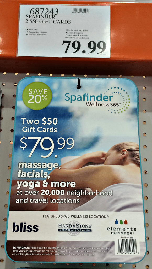 Spa Finder Discount Gift Cards
