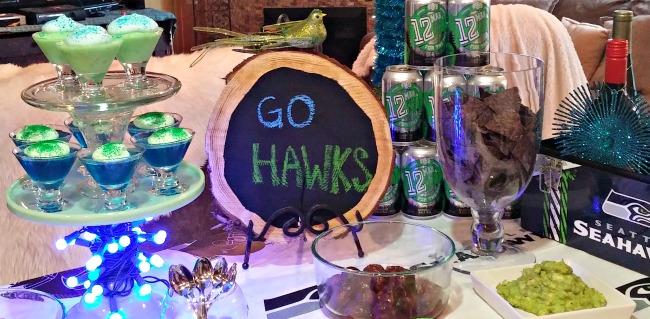 Wooden Chalkboard Seahawks 1