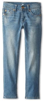 7 For All Mankind Kids Skinny Jean in Light Cobalt Blue (Big Kids)