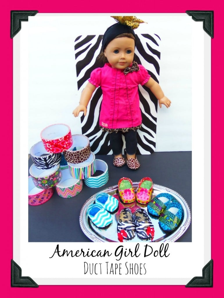 Diy Duct Tape American Girl Doll Shoes Thrifty Nw Mom