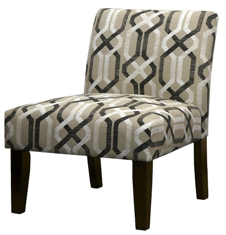 Avington Upholstered Slipper Chair Multi Neutral Geo