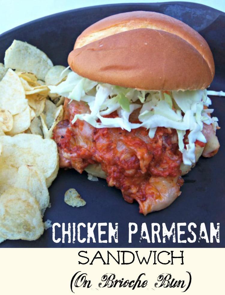 Chicken Parmesan Sandwich (Simple Recipe)!