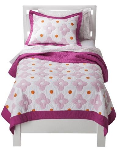 Circo Flower Dot Quilt Set - Pink