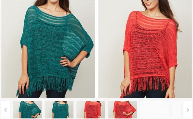 Designer Spring Fringe Sweater Top
