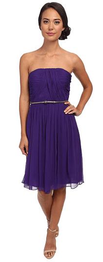 donna morgan strapless silk chiffon dress « Bella Forte Glass Studio
