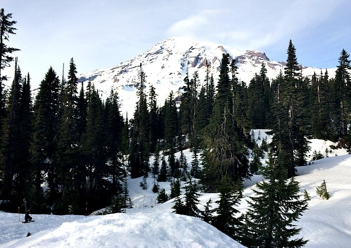 Mt Rainier during the winter