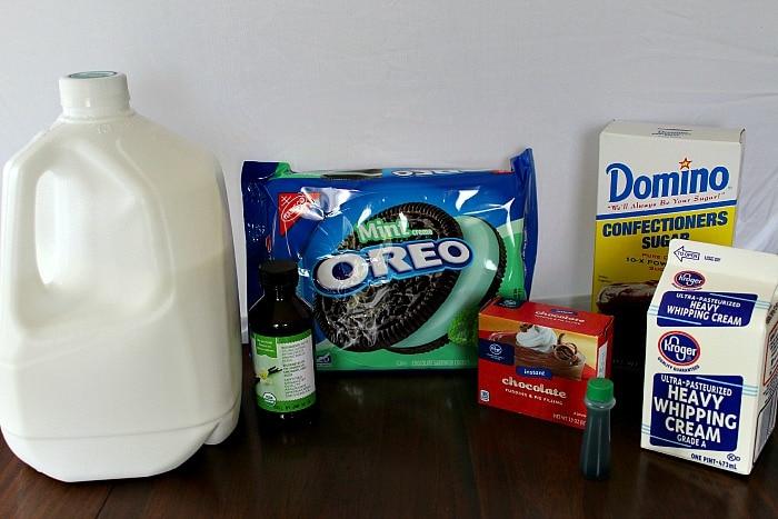 Oreo Mint Trifle Ingredients