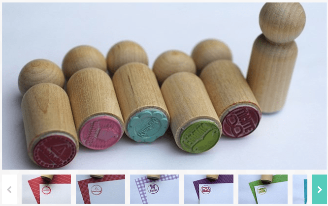 Personalized Mini Peg Stamps