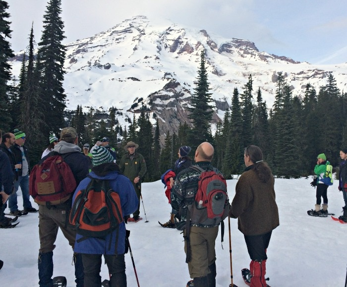 Ranger Led Snowshoe Tour at Mt Rainier
