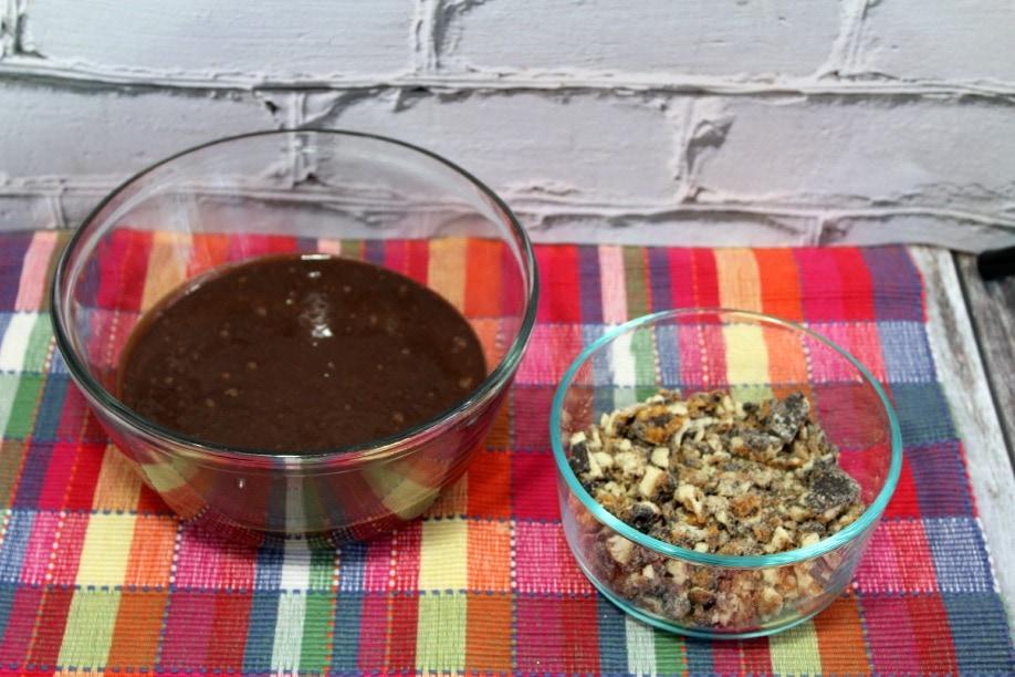 Making Samoa Brownies