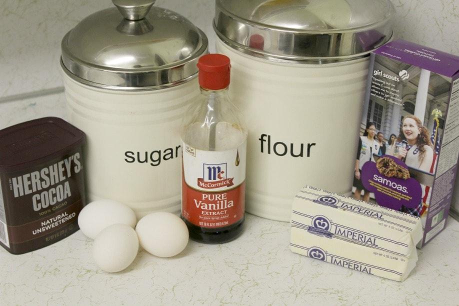 Samoa Brownie Ingredients