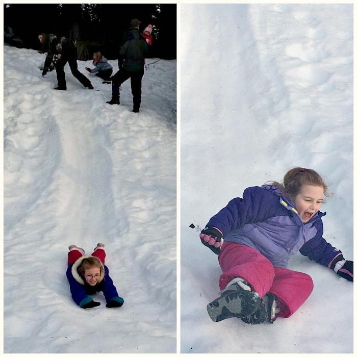 Sledding Fun at Mt Rainier