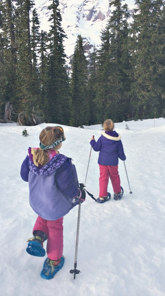 Snowshoeing for Kids at Mt Rainier