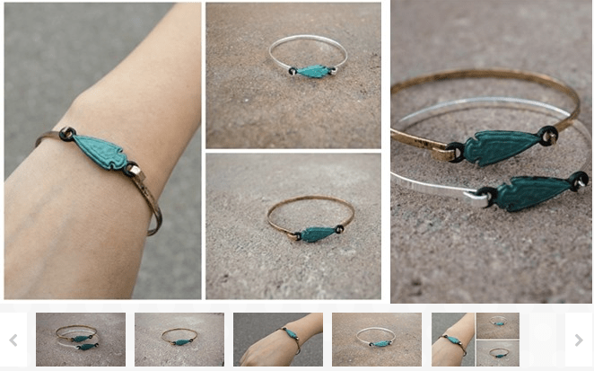 rustic spearhead bangle