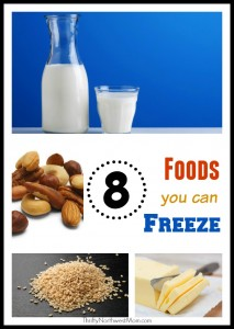 8 Foods You Can Freeze