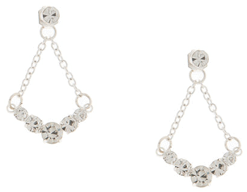 Crystal Swag Front and Back Earrings