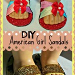 How To Make American Girl Doll Shoes / Sandals (No Sewing Required)!