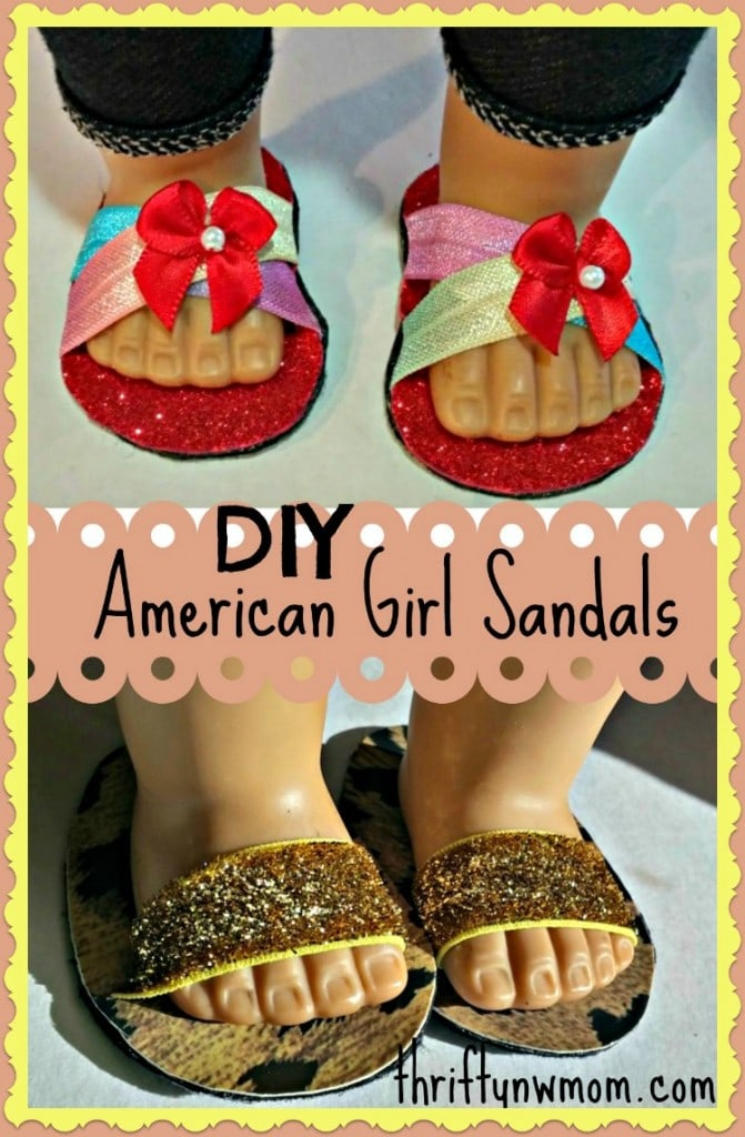 DIY American Girl Sandals Shoes