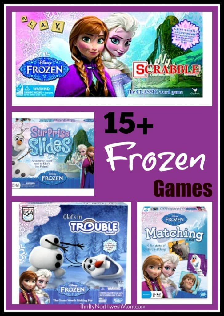 15+ Disney Frozen Games including Puzzles, Board Games & Card Games