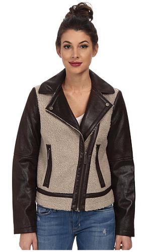 Kenneth Cole New York Asymmetrical Faux Sherpa Jacket