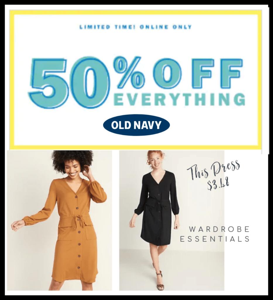 Old Navy Sale 50% Off
